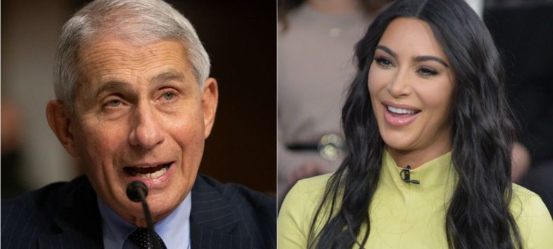 Kim Kardashian Arranged a Private Celebrity Video Call With Dr. Anthony Fauci
