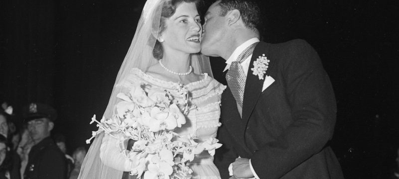 Eunice Kennedy Shriver Wears Her Grandmother's Stunning Wedding Gown 67 Years Later