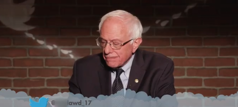 Bernie Sanders, Elizabeth Warren & More Politicians Read Mean Tweets About Themselves on 'Jimmy Kimmel Live!'