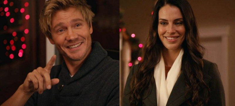 Chad Michael Murray and Jessica Lowndes Have a Flirty Exchange in Lifetime Xmas Movie: First Look (Exclusive)
