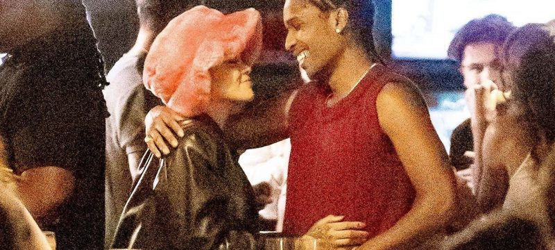 Rihanna and A$AP Rocky Share a Kiss During Arcade Date Night