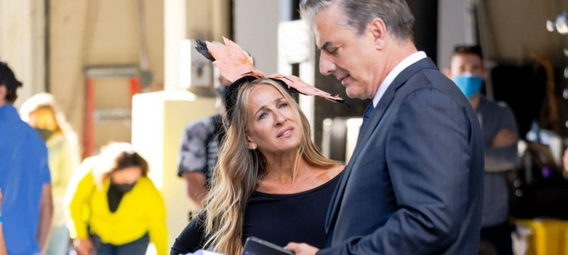 Sarah Jessica Parker and Chris Noth Spotted on Set of 'Sex and the City' Revival — See the Pics!