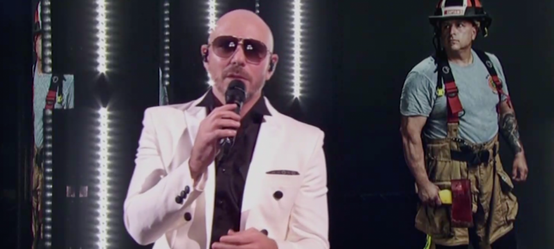 Pitbull Performs With Frontline Workers at 2020 Latin GRAMMY Awards